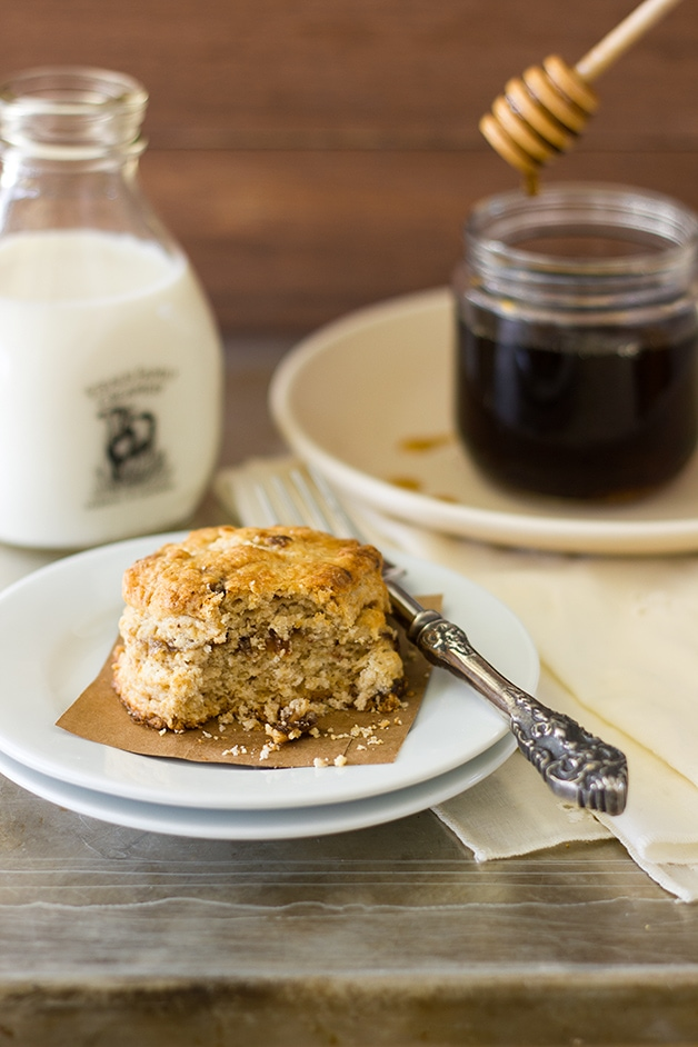 Maple Date Scones - buttery scones studded with sweet dates and laced with pure maple for so much flavor in every flaky bite. | www.brighteyedbaker.com