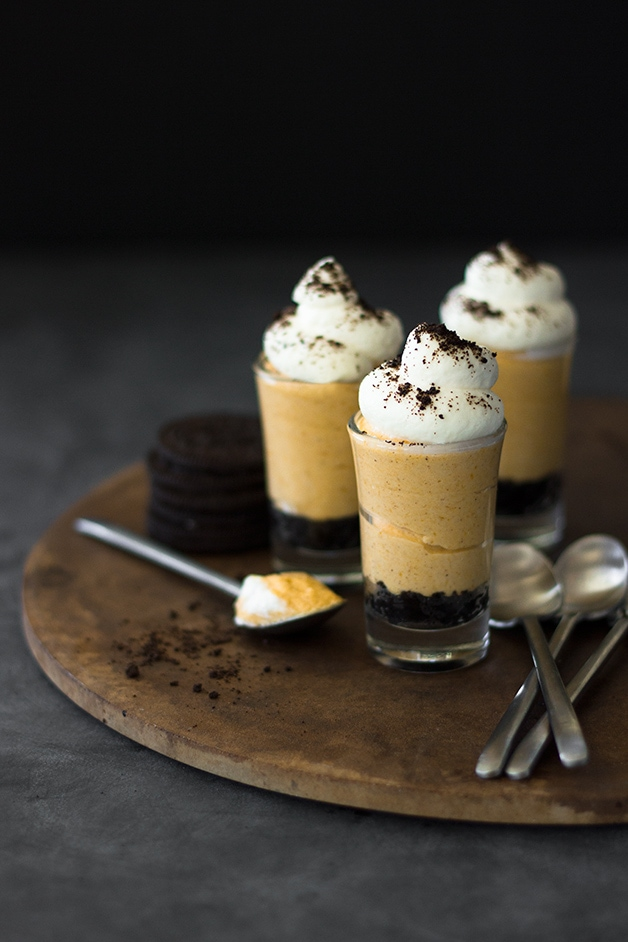 No-Bake Pumpkin Cheesecake Shooters - an indulgent dessert turned into ...