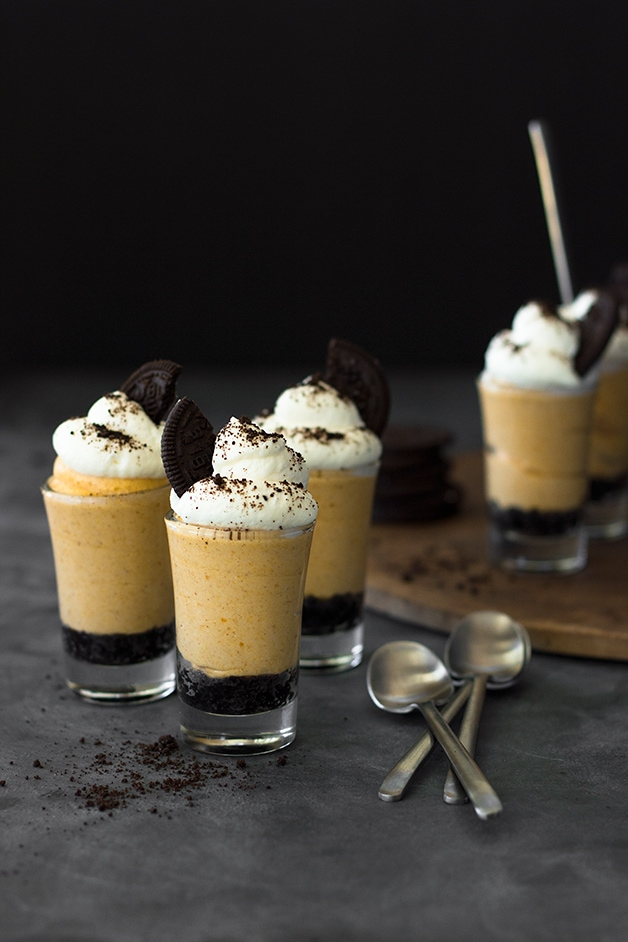 No-Bake Pumpkin Cheesecake Shooters