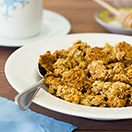 Sesame Seed Tahini Granola - A crunchy granola with tons of perfectly-sweet, sesame-studded clumps and clusters.
