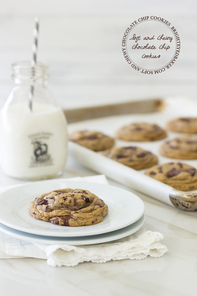 {The BEST} Soft & Chewy Chocolate Chip Cookies - a serious cookie lover's dream come true. | www.brighteyedbaker.com