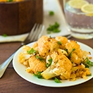 Cheesy Smoked Paprika Roasted Cauliflower - an easy, healthy, and flavor-packed vegetarian side dish. | www.brighteyedbaker.com