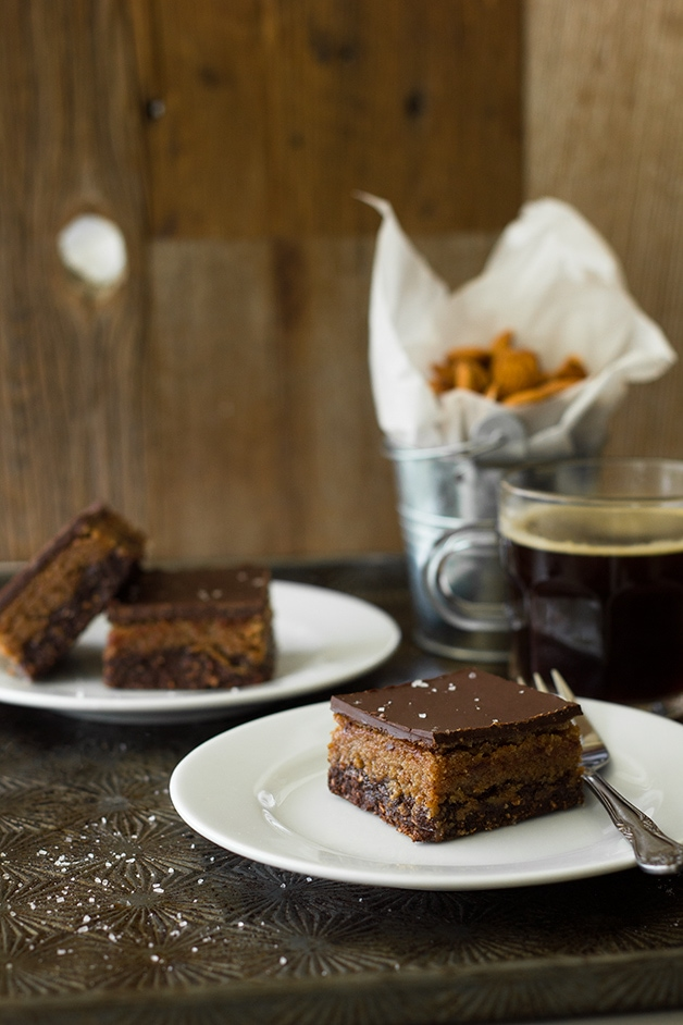 Healthy No-Bake 3-Layer Chocolate Espresso Bars - dessert taste without the guilt!  www.brighteyedbaker.com