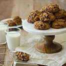 Pecan & Date Oatmeal Cookies - Hearty, flavor-packed, cinnamon-spiced oatmeal cookies that just happen to be 100% whole wheat and butter-free; you'd never know it though! | www.brighteyedbaker.com