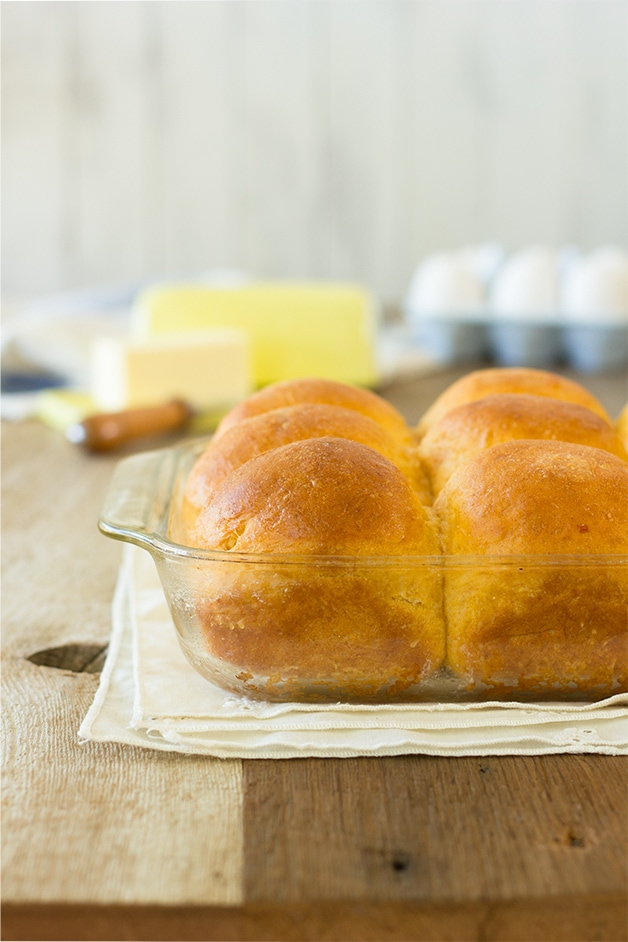 Sweet Potato Rolls - easy-to-make, pillowy-soft bread rolls - perfect for entertaining!