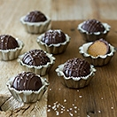 Chocolate-Dipped Gingerbread Cookie Dough Truffles