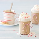 Peppermint White Chocolate Mocha  -  a warm, creamy coffee treat for cold winter days that totally beats the coffeehouse version.