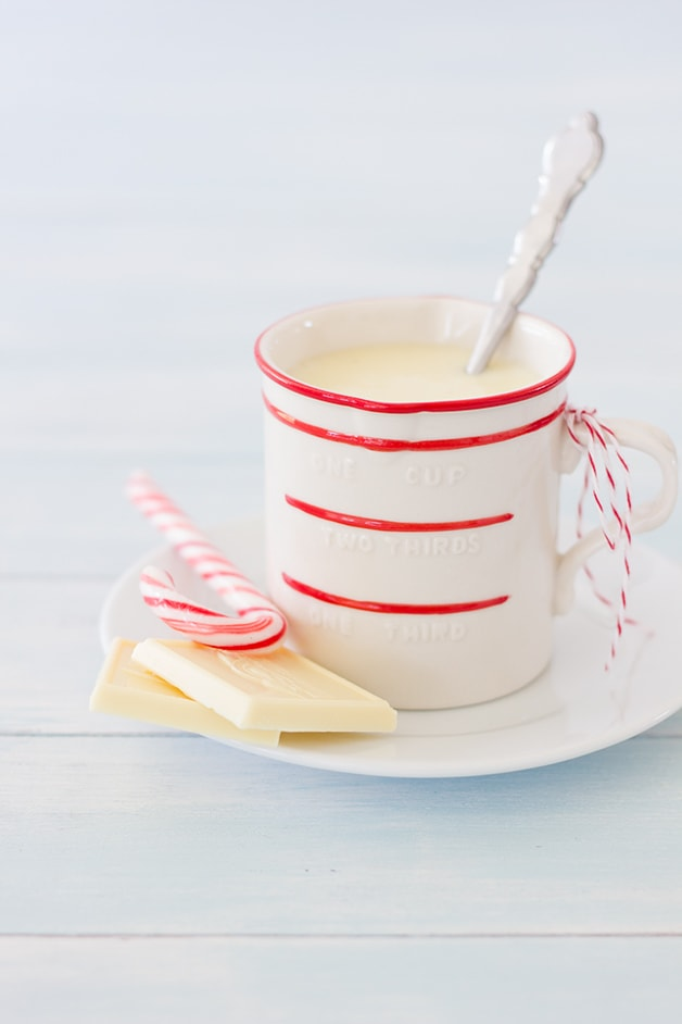 Peppermint White Chocolate Mocha - a warm, creamy coffee treat for cold winter days.