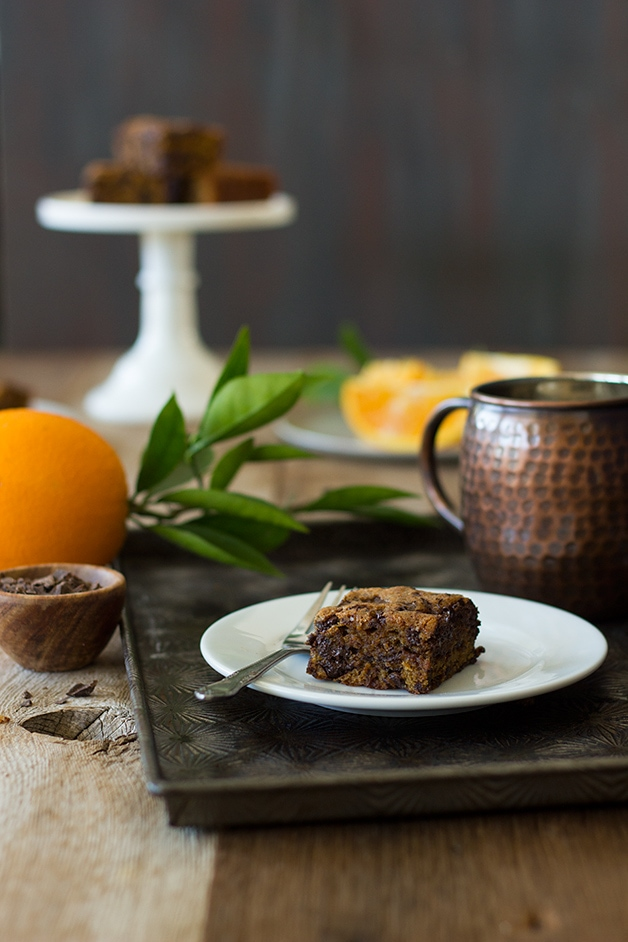 One-Bowl Orange-Butterscotch Chocolate Chunk Blondies | www.brighteyedbaker.com