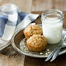 Banana Oat Muffins - moist and light muffins that are GF & Dairy-Free | www.brighteyedbaker.com