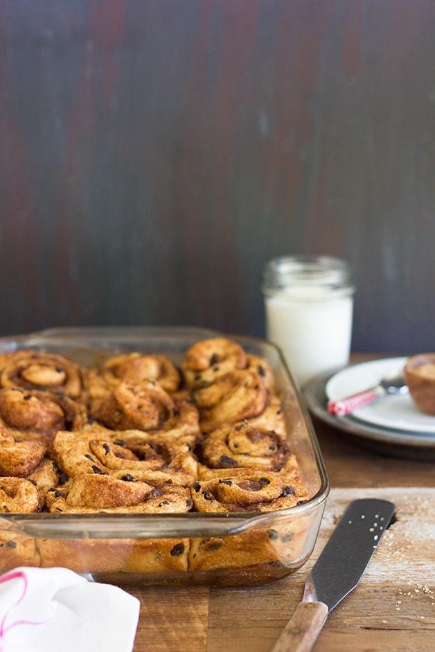 Cinnamon-Raisin Swirl Buns - a classic bread turned into super-soft sweet rolls, loaded with gooey swirls of cinnamon-sugar and juicy raisins.| www.brighteyedbaker.com