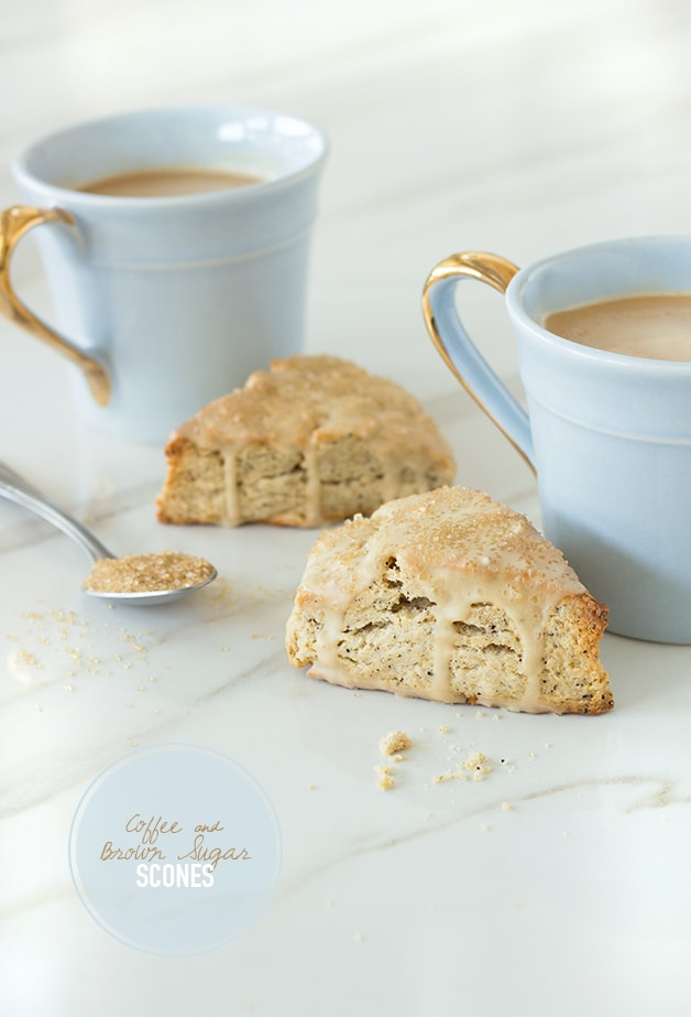 Coffee and Brown Sugar Scones | A java-inspired twist on the scone that makes it the perfect companion for your morning cuppa. | www.brighteyedbaker.com