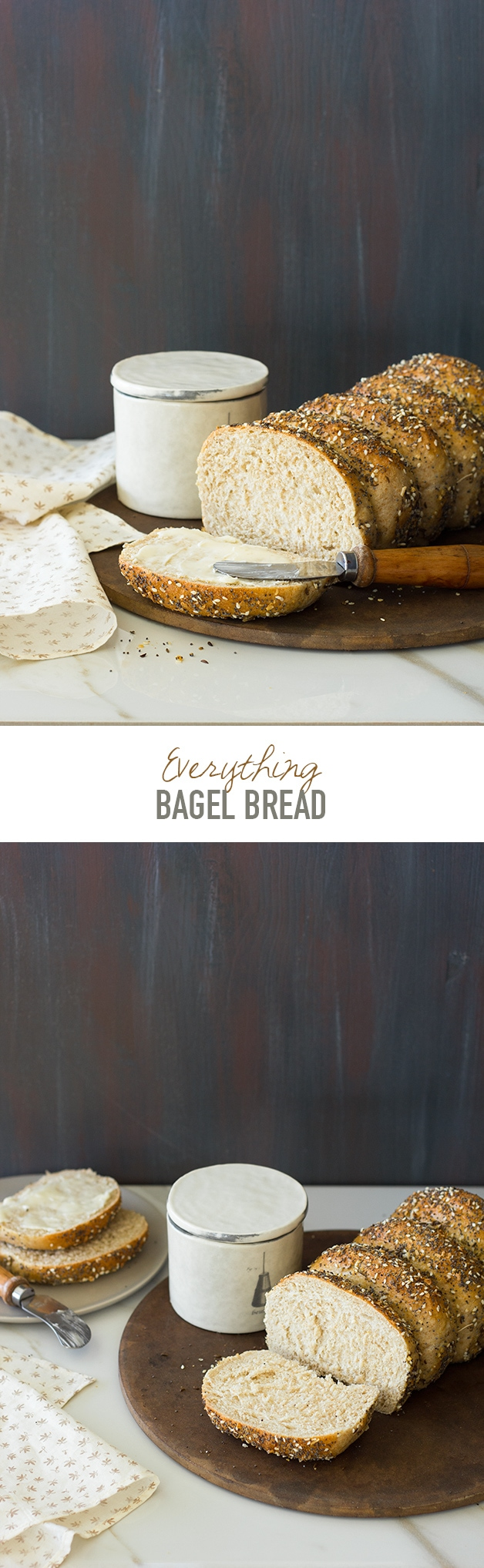 Everything Bagel Bread - Just like a perfectly soft and fluffy Everything Bagel, but in loaf form!   www.brighteyedbaker.com