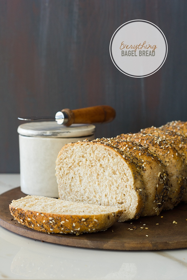Everything Bagel Bread - Just like a perfectly soft and fluffy Everything Bagel, but in loaf form! | www.brighteyedbaker.com