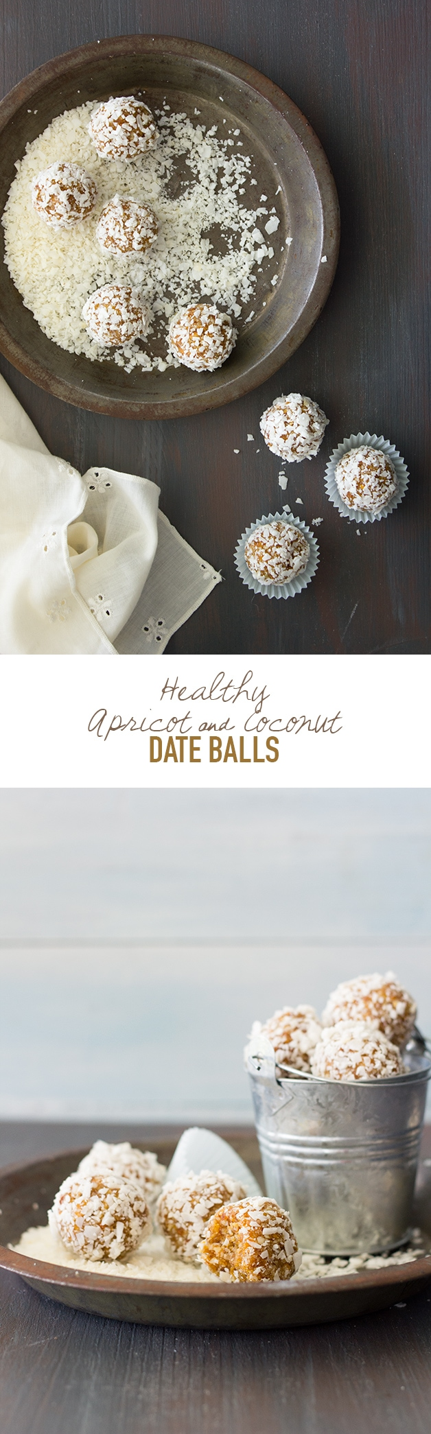 Healthy Apricot & Coconut Date Balls - a recipe for natural-sweetened energy bites to curb those random snacking cravings. {Gluten-Free, Vegan}   www.brighteyedbaker.com