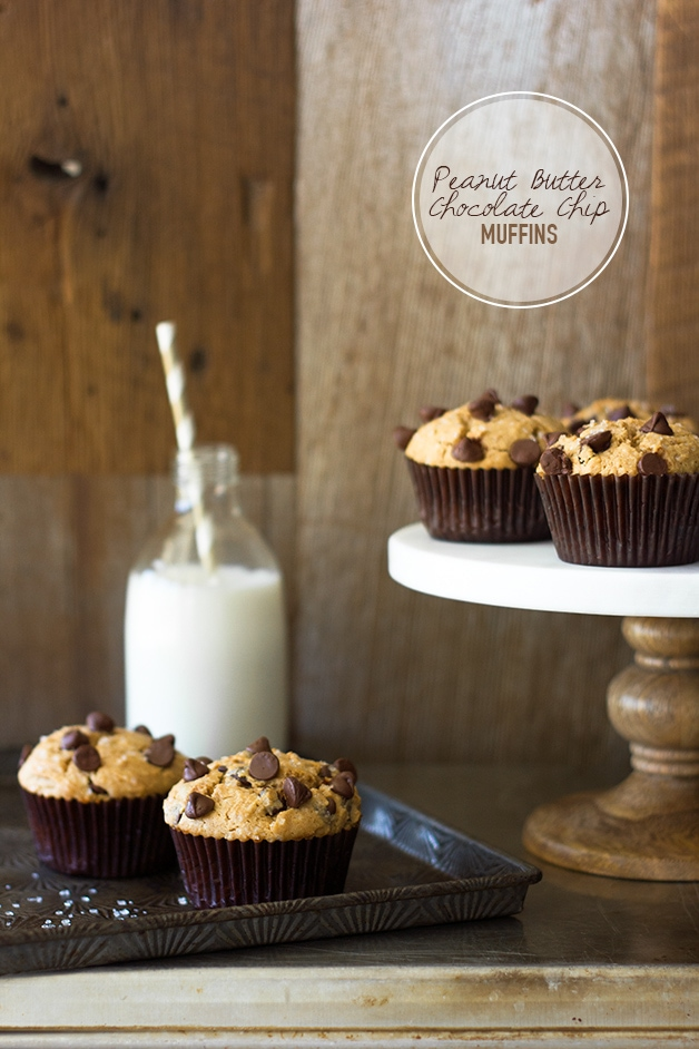 Peanut Butter Chocolate Chip Muffins {dairy-free} | www.brighteyedbaker.com