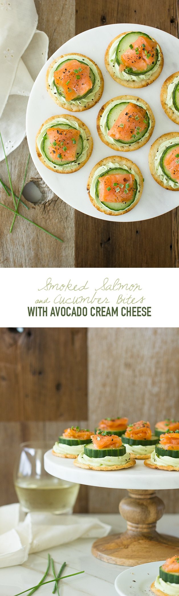 Smoked Salmon & Cucumber Bites with Avocado Cream Cheese - a simple but elegant appetizer to serve for any gathering! | www.brighteyedbaker.com #BretonGlutenFree #CleverGirls