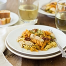 Grilled Chicken Fusilli Pasta {with sun-dried tomatoes and capers} - an easy summer-inspired Italian dish! | www.brighteyedbaker.com #GrillwithColavita