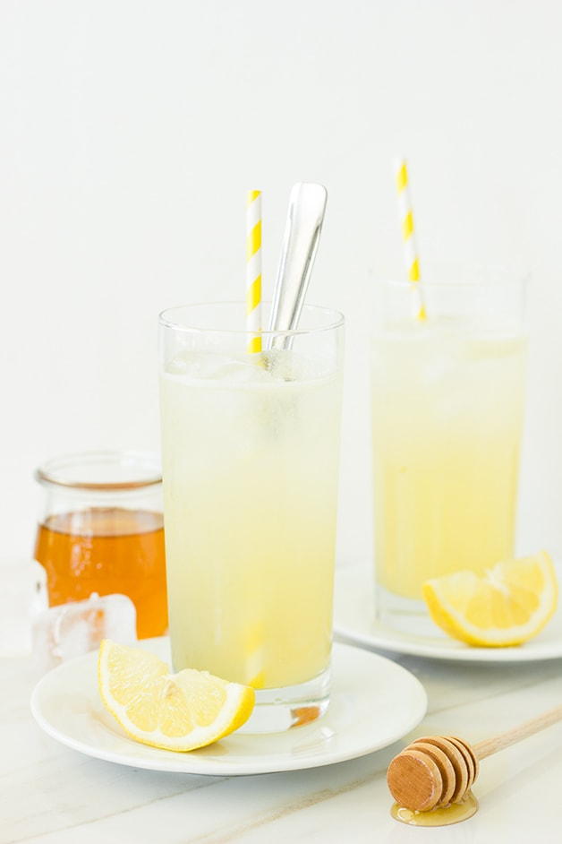 Honey-Lemon Gin Rickey | A quintessential drink for warm summer afternoons - tart and refreshing with background notes of honey that lend the perfect bit of floral sweetness. | www.brighteyedbaker.com