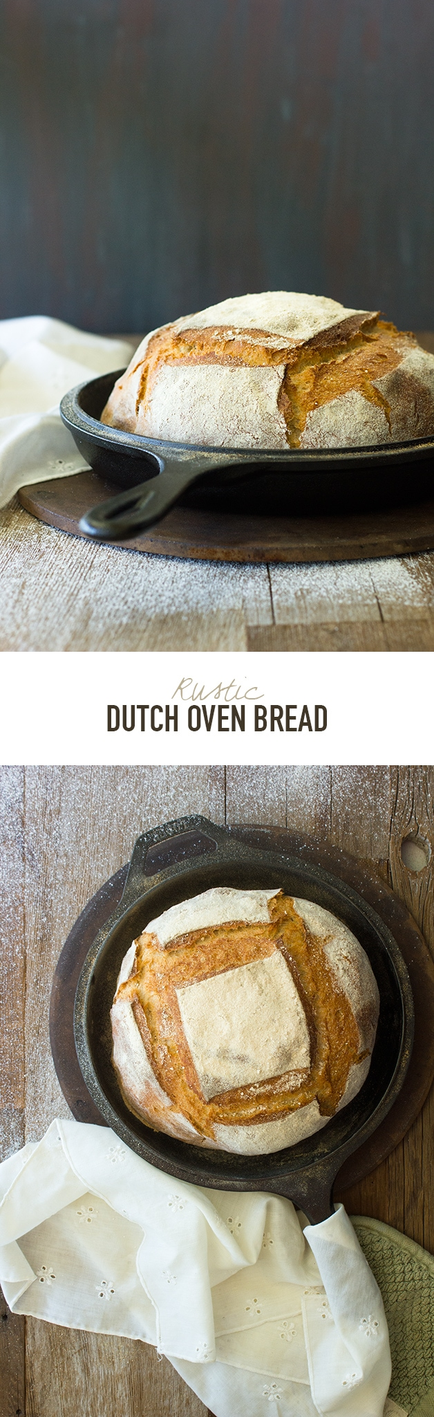 Rustic Dutch Oven Bread - a hearty, everyday bread with a thick, crunchy crust and tender crumb. | www.brighteyedbaker.com