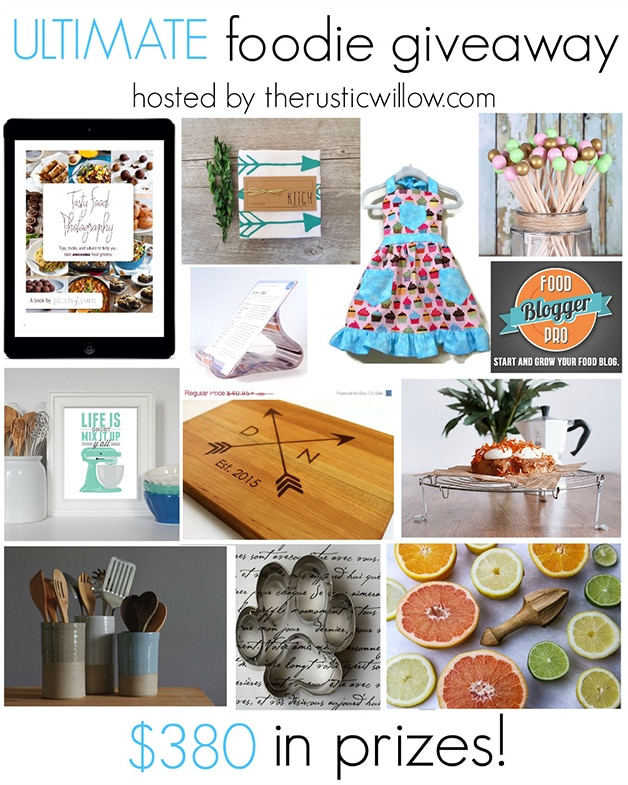 Ultimate Food Giveaway - enter to win $380 worth of fun kitchen accessories and more!