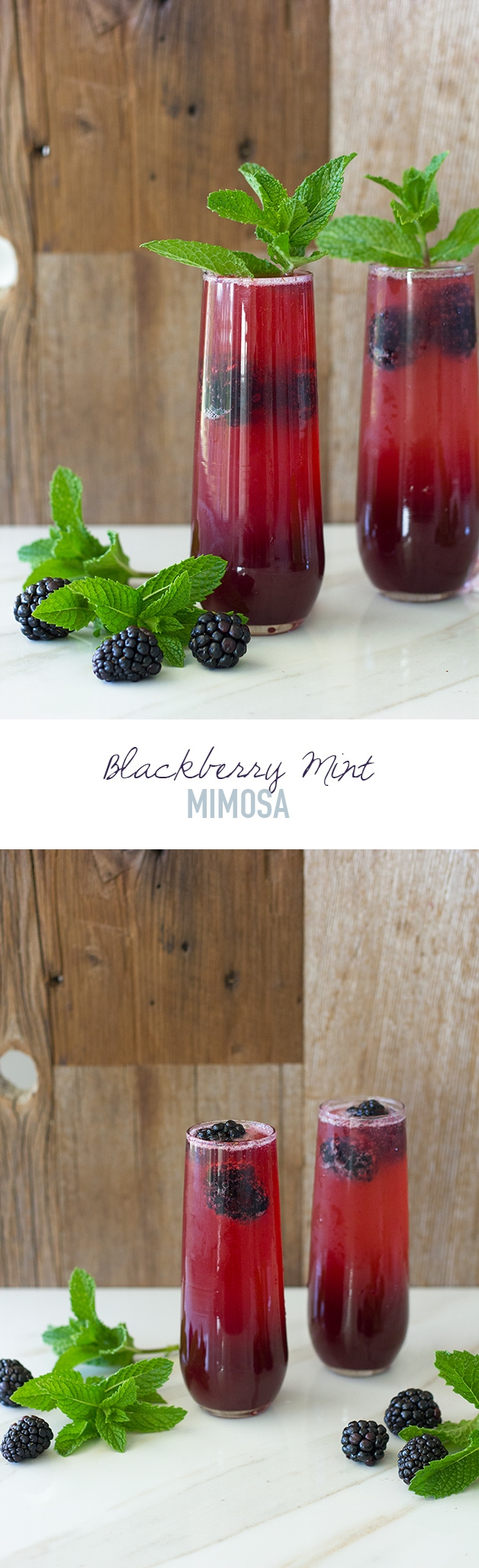 Blackberry Mint Mimosa - a summery spin on the classic mimosa that makes perfect use of the season's fresh produce. | www.brighteyedbaker.com