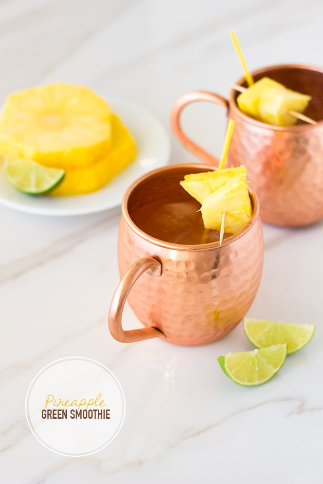 e - a fruity twist on a classic cocktail, with a blend of fresh pineapple and pineapple vodka for a fun tropical vibe. | www.brighteyedbaker.com