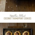 Nutella-Filled Coconut Thumbprint Cookies - Like a shortbread cookie-turned-macaroon, with sweet, toasted coconut on the outside and a dollop of Nutella in the middle for a nutty chocolate twist. | www. brighteyedbaker.com