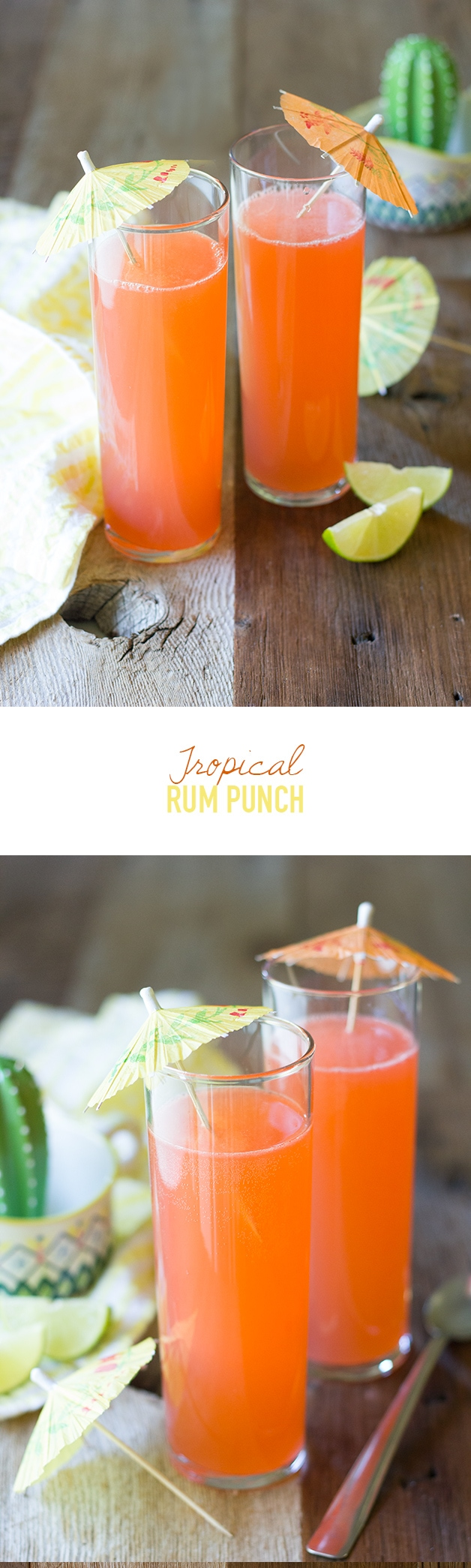Tropical Rum Punch - An extra-tropical take on a fruity summer sipper. | www.brighteyedbaker.com