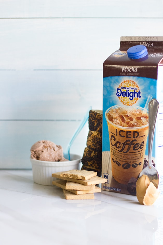 Mocha Peanut Butter S'mores Milkshake | www.brighteyedbaker.com