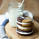 Pumpkin Spice Fluffernutter Cookie Sandwiches | www.brighteyedbaker.com
