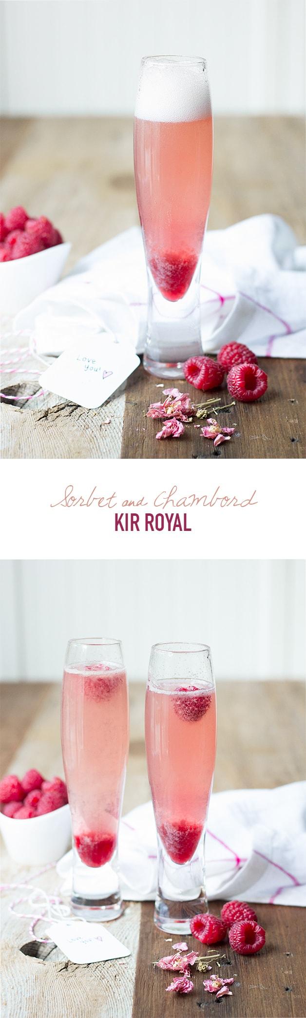 Sorbet & Chambord Kir Royale | www.brighteyedbaker.com