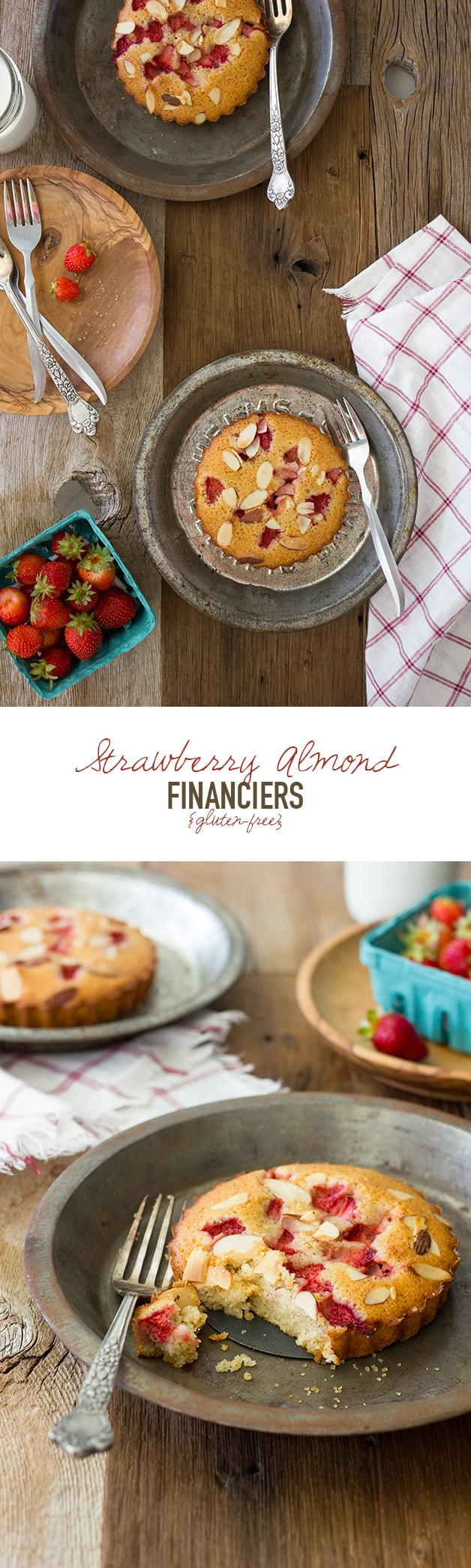Strawberry Almond Financiers {gluten-free}| www.brighteyedbaker.com