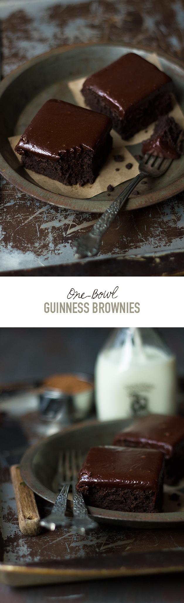 One-Bowl Guinness Brownies | www.brighteyedbaker.com
