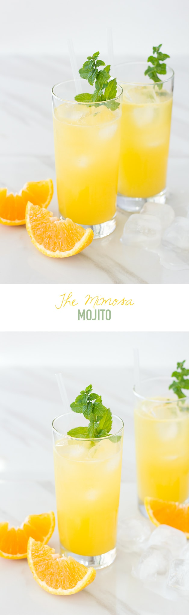 Mimosa meets mojito - this fun spin on a mojito combines two classic cocktails for a refreshing (but strong!) summer sipper.