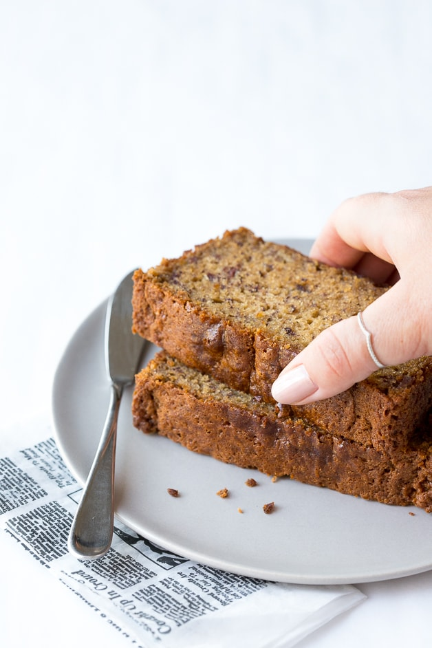 A no-frills, go-to Classic Banana Bread recipe made gluten-free (but it's so soft and tender you'd never know it!)