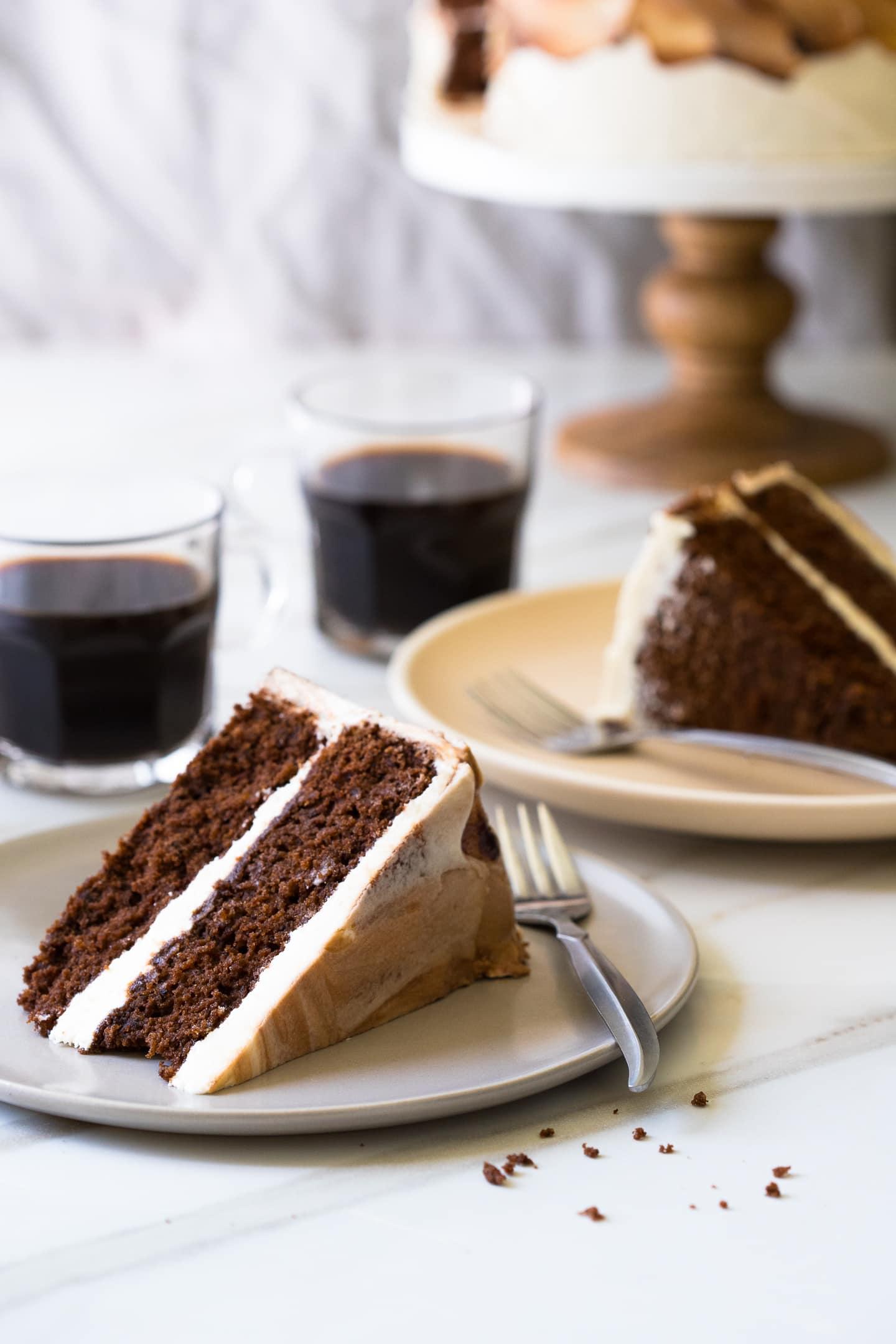 Vietnamese Coffee Cake {gluten-free} - Bright-Eyed Baker