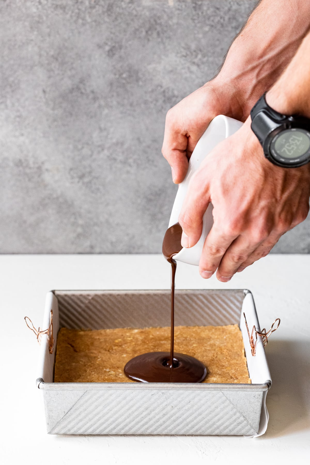 Chocolate Peanut Butter Protein Bars {gf, refined sugar-free}