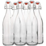 Set of 6 swing-top glass bottles