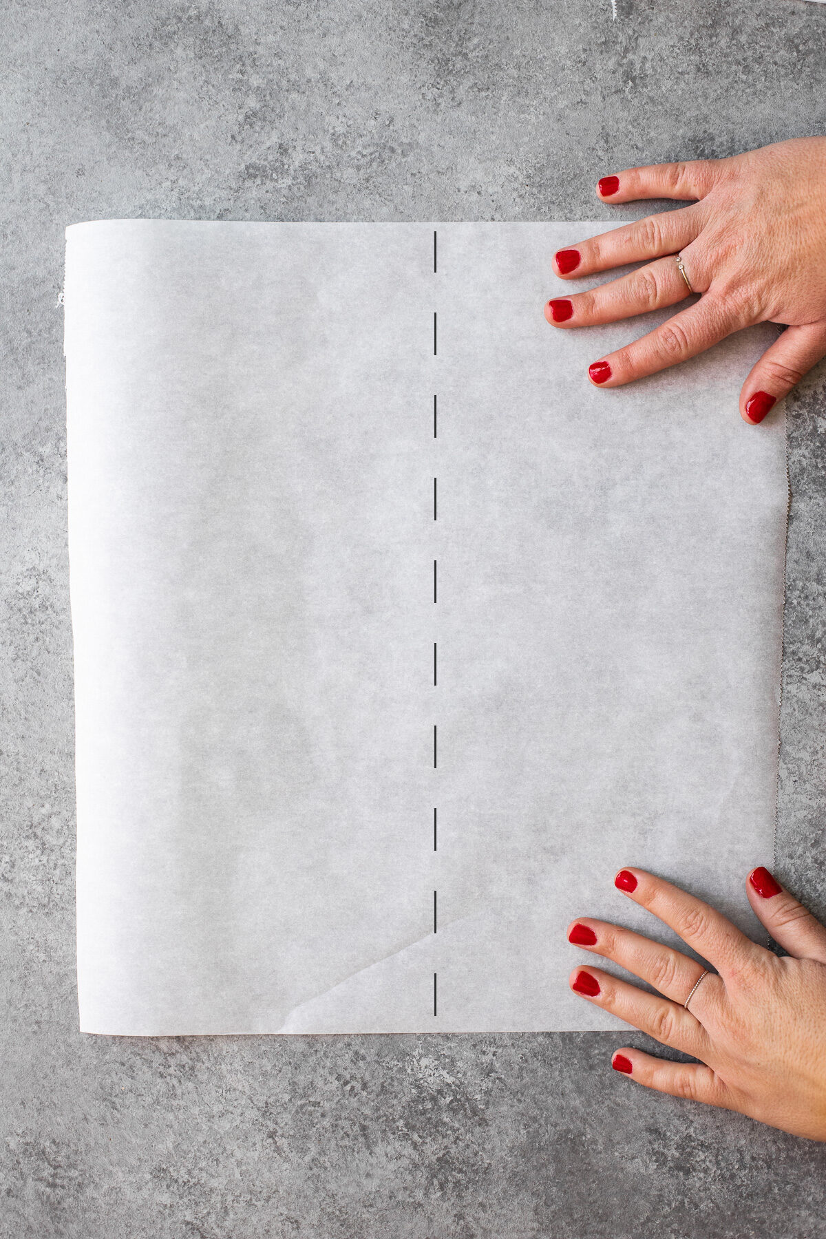 Rectangular sheet of parchment to use for making parchment circles.